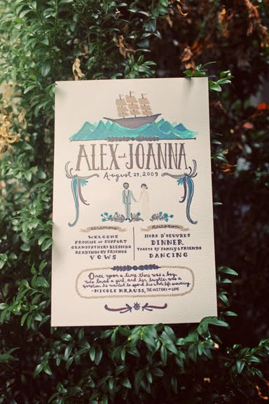 joannagoddardweddingprogramannamelconbond photos by Max Wanger